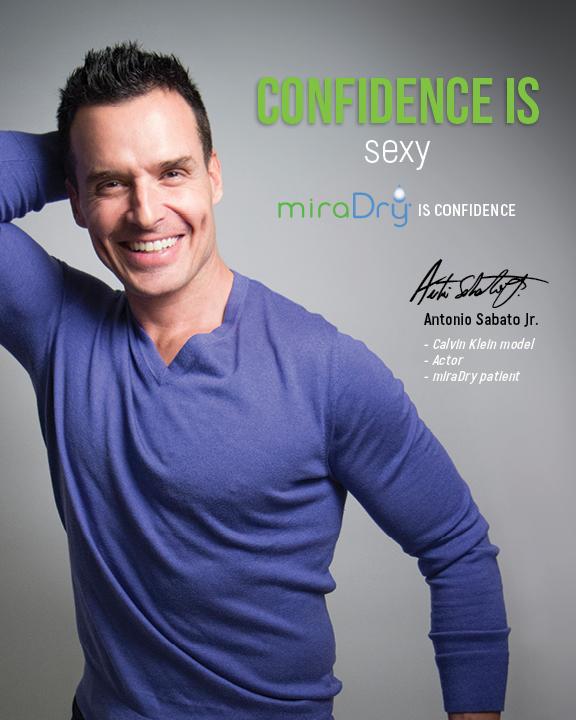 confidence is sexy miraDry is confidence with Antonio Sabato Jr. modeling